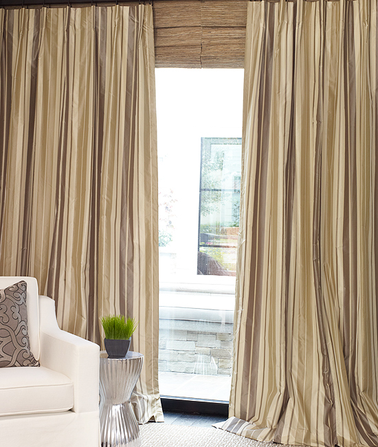 Westin Taupe with Cartridge Pleat